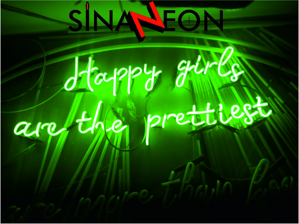 ışıklı elyazısı neon uygulaması yeşil neon - sinan neon