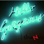Hello Gorgeous Neon Uygulaması
