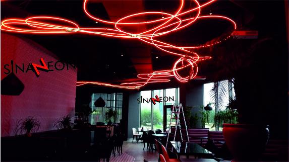 Hotel Tavan Neon Proje Uygulaması - Sinan Neon