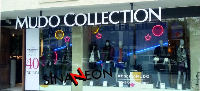 Mağaza Vitrin Neon Dekor Uygulaması