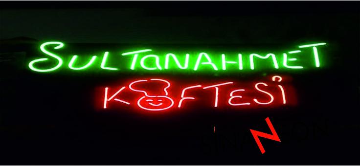 Sultanahmet Köfte Tabelası Neon Tabela