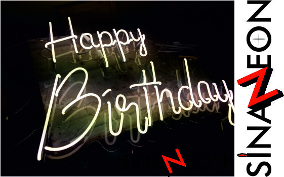 Happy Birthday Neon Sign