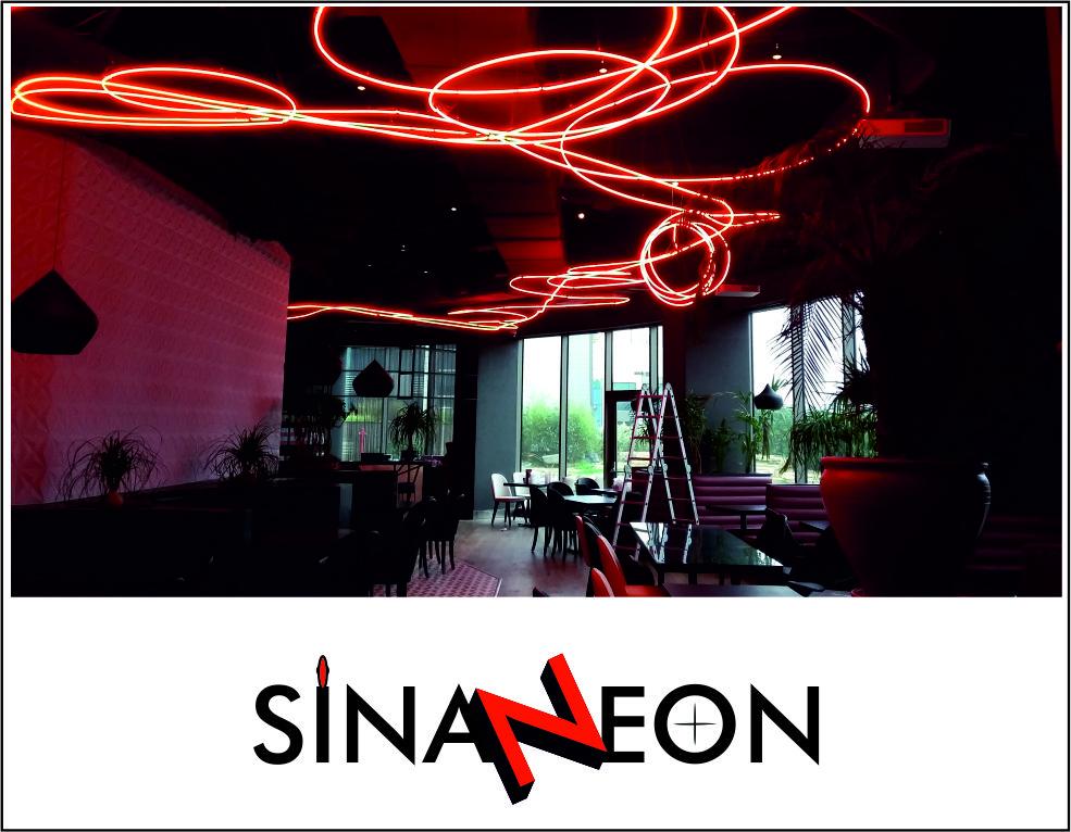 Tavan Neon Dekor Aydınlatması