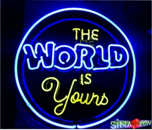 the world is yours neon