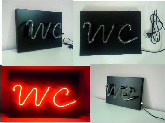 wc neon yazı