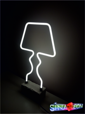 abajur cam neon aydınlatma