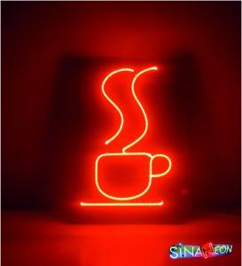 kafeler için kahve fincanı neon görseli