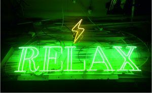Cam Neon Relax Işıklı Yazı