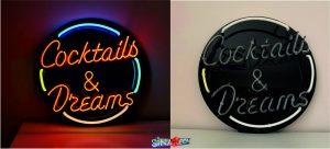 Coctails Dreams Neon Görseli