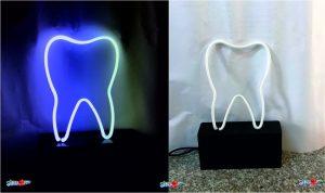 Diş Neon Masa Lambası