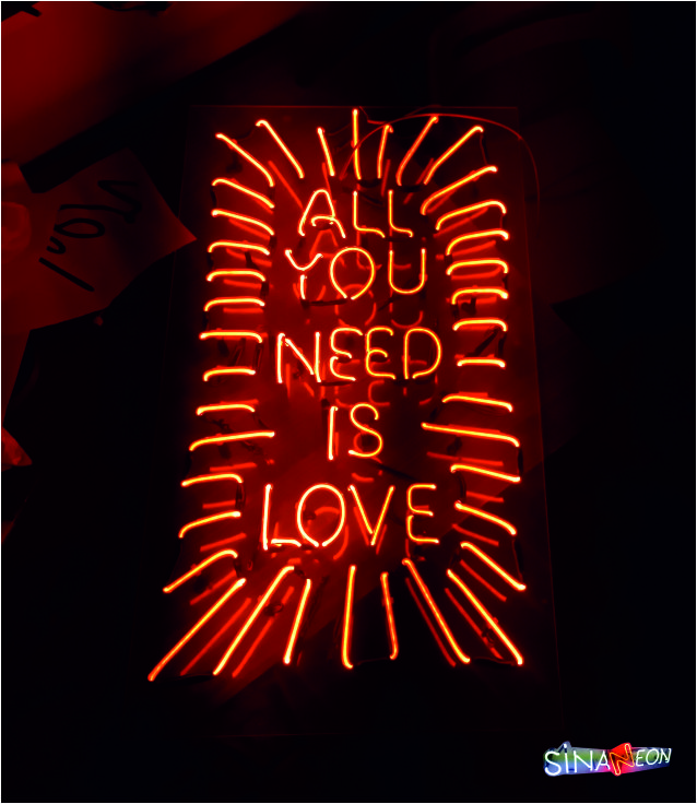 all you need is love sinan neon