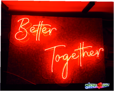 better together neon light,better together neon sign