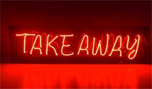 takeaway neon sign - SİNAN NEON