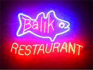 balık restaurant ışıklı led neon