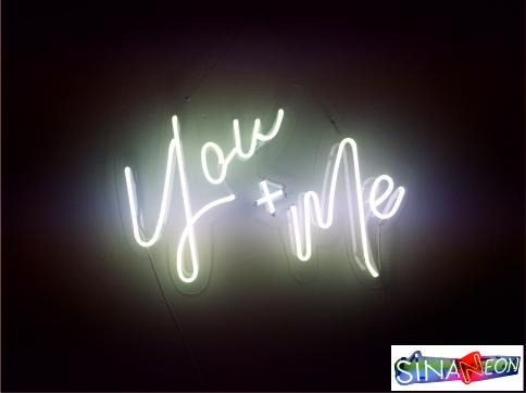you & me led neon yazı